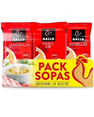PACK SOPAS GALLO 3X250G