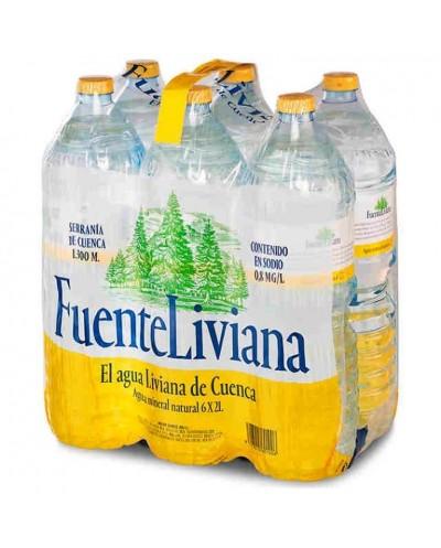 AGUA FUENTE LIVIANA PACK 6X2L