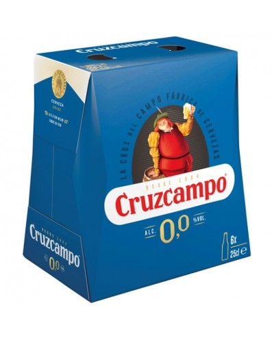 CERVEZA CRUZCAMPO 0,0 6X25CL