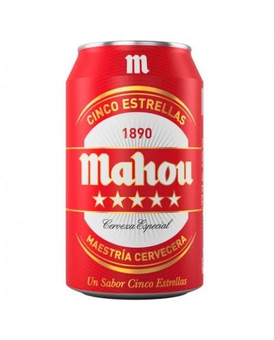 CERVEZA MAHOU 5 ESTRELLAS 33CL