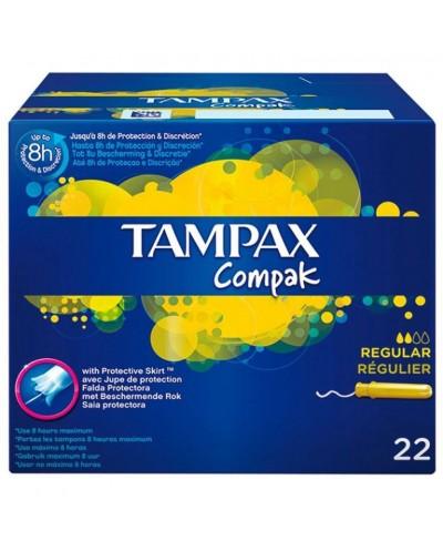 TAMPAX COMPAK REGULAR 20+2UD