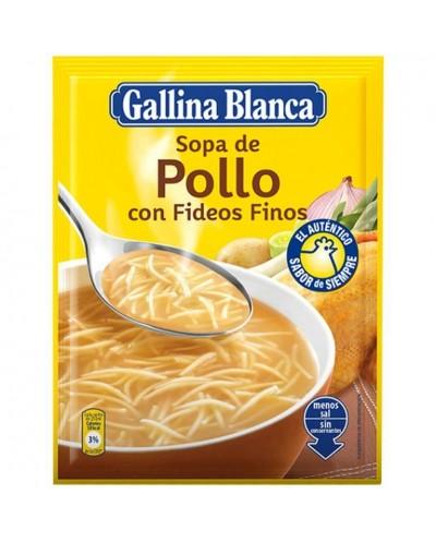 SOPA POLLO FIDEOS FINOS...