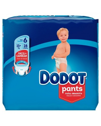 PAÑALES DODOT PANTS TALLA 6...