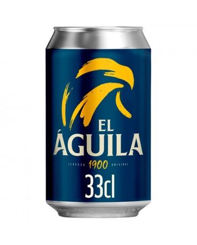 CERVEZA EL AGUILA LATA 33CL